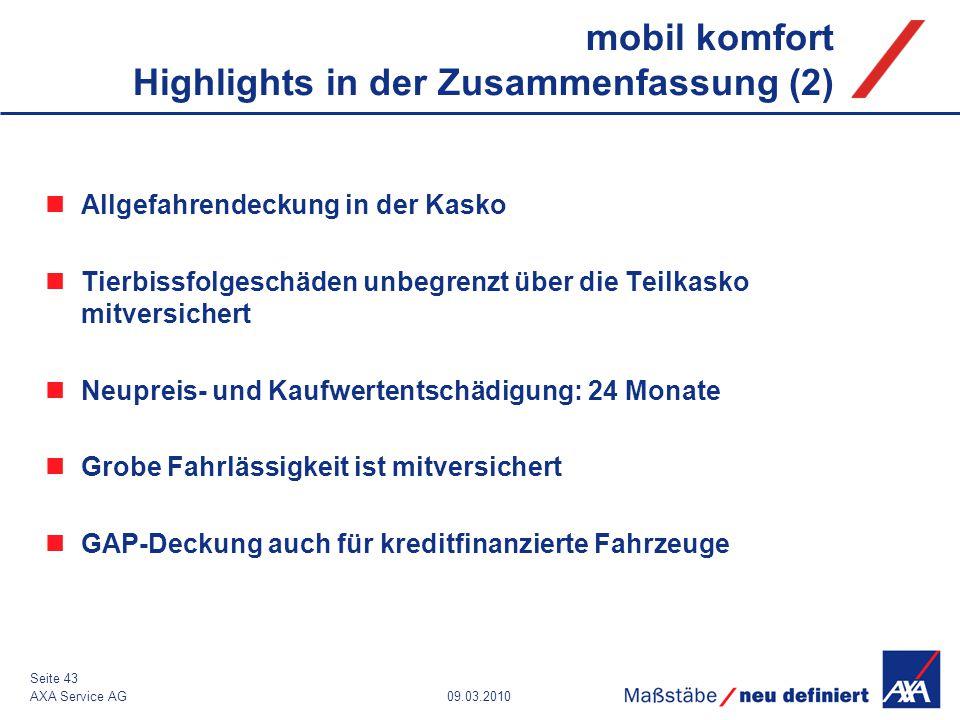 mobil komfort Highlights in der Zusammenfassung (2)
