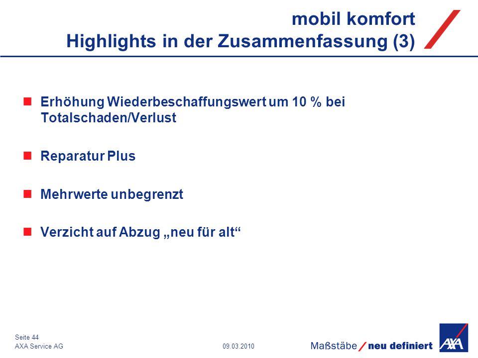 mobil komfort Highlights in der Zusammenfassung (3)