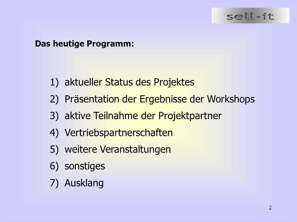 aktueller Status des Projektes