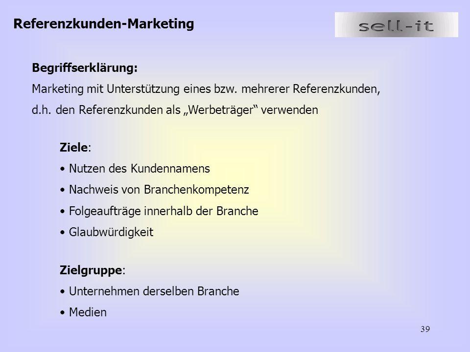 Referenzkunden-Marketing