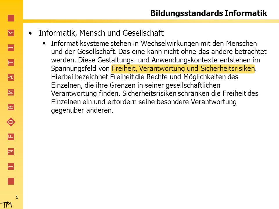 Bildungsstandards Informatik