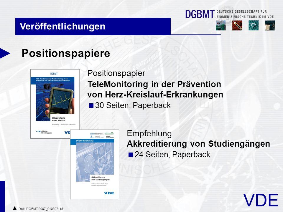 Positionspapiere Veröffentlichungen Positionspapier