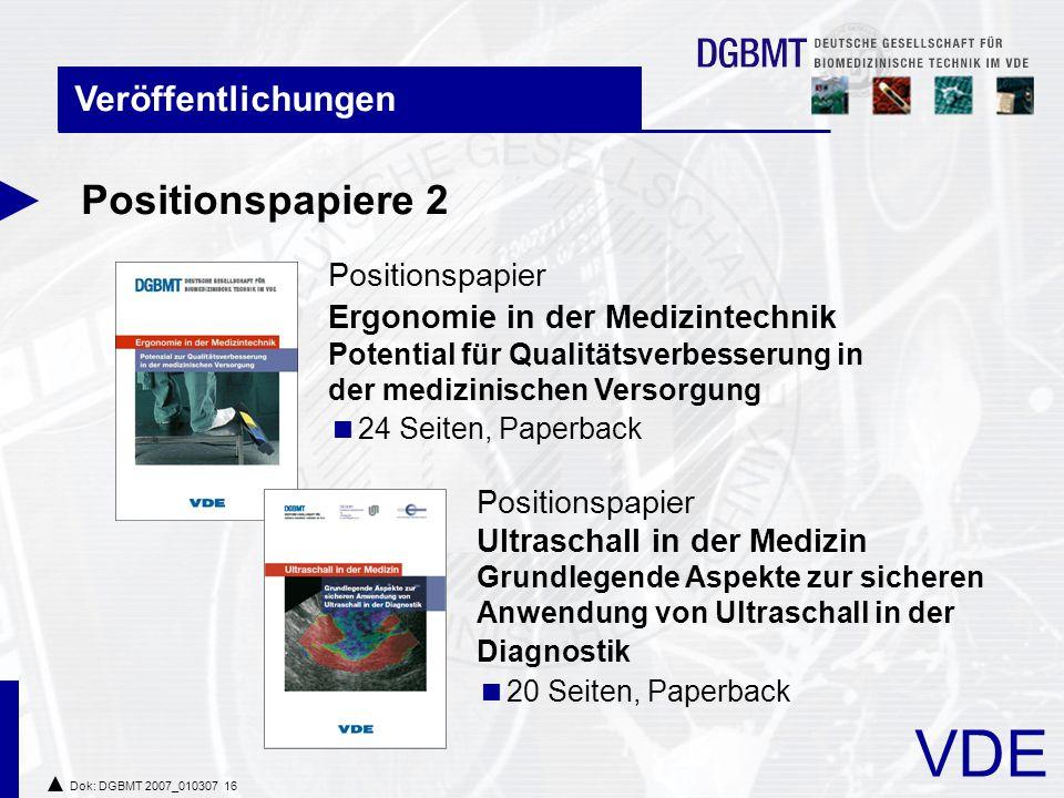 Positionspapiere 2 Veröffentlichungen Positionspapier