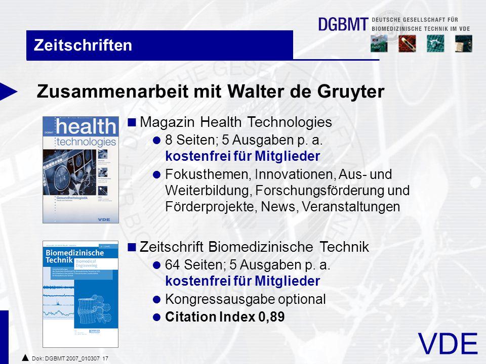 Zusammenarbeit mit Walter de Gruyter