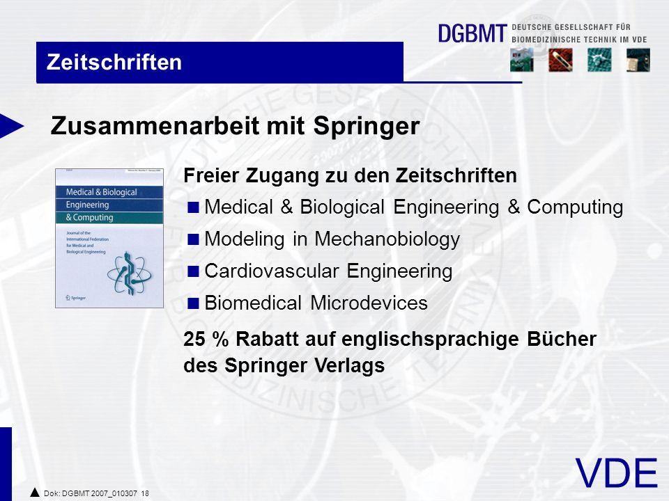 Zusammenarbeit mit Springer