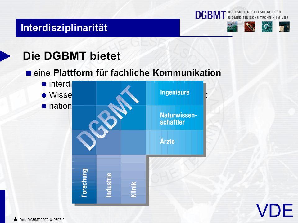 Die DGBMT bietet Interdisziplinarität