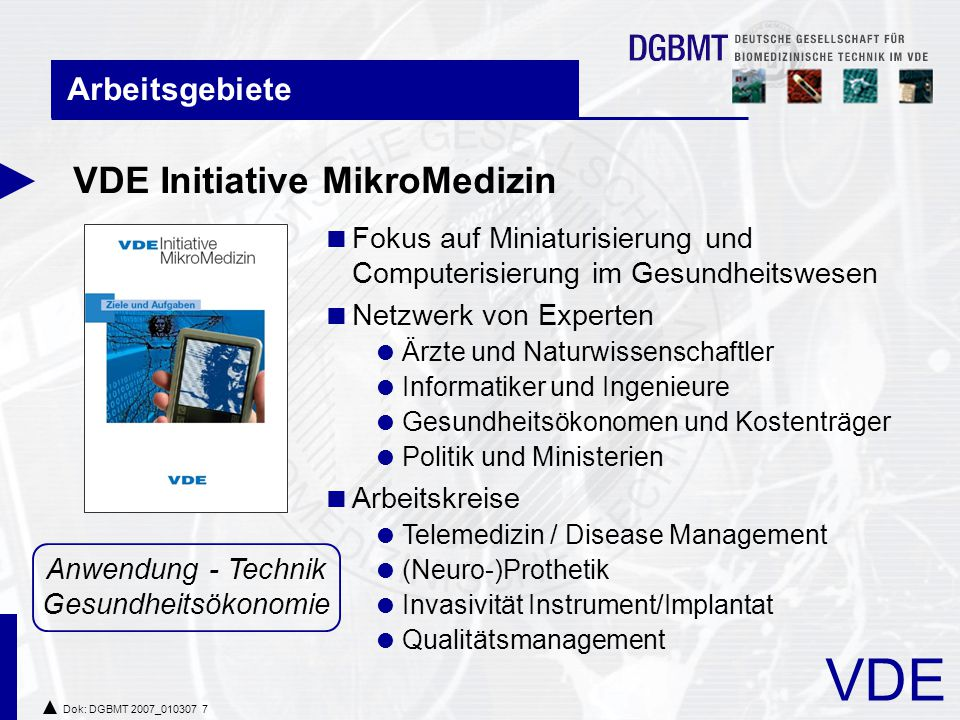 VDE Initiative MikroMedizin