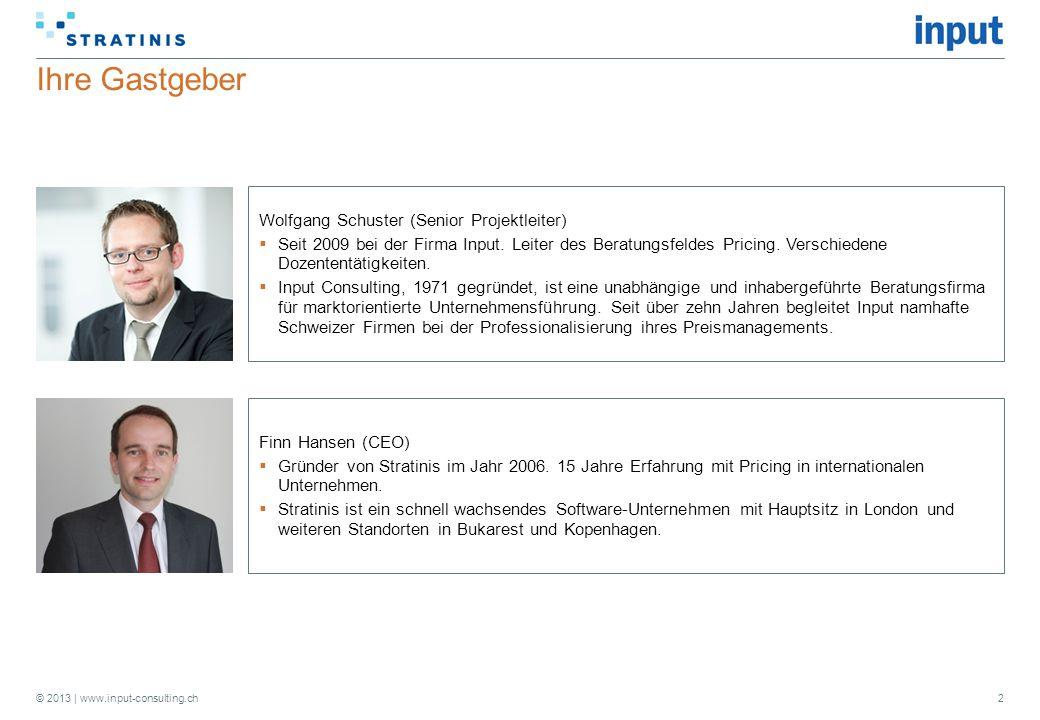 Ihre Gastgeber Wolfgang Schuster (Senior Projektleiter)