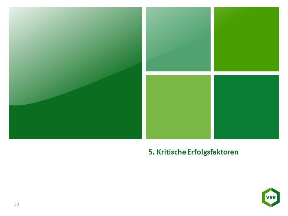 5. Kritische Erfolgsfaktoren