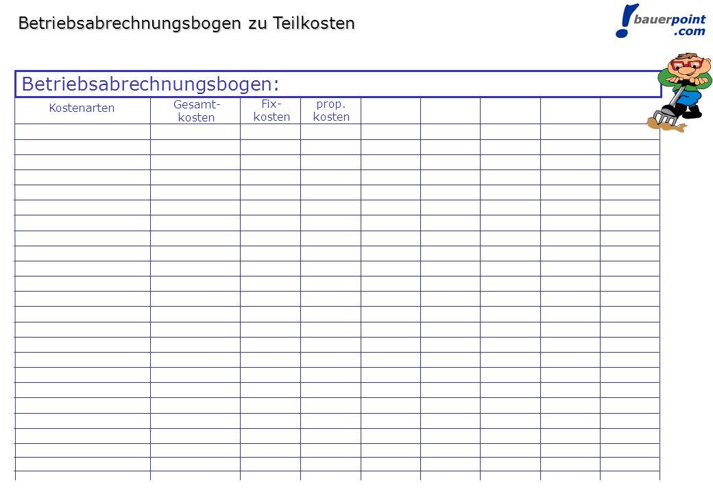 Betriebsabrechnungsbogen: