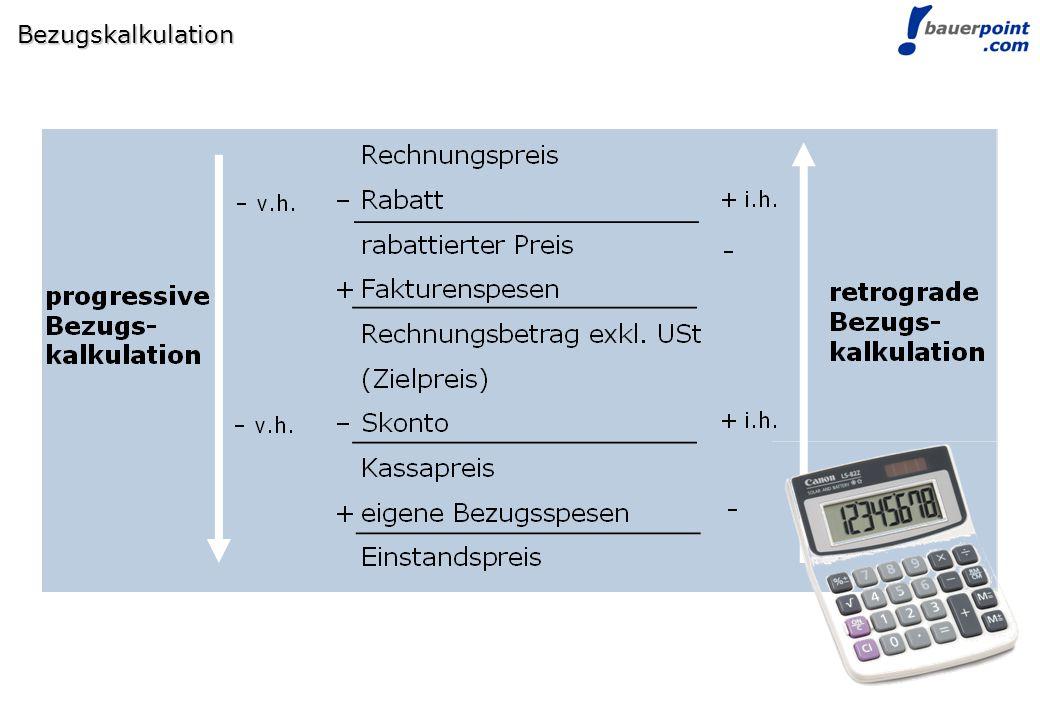 Bezugskalkulation