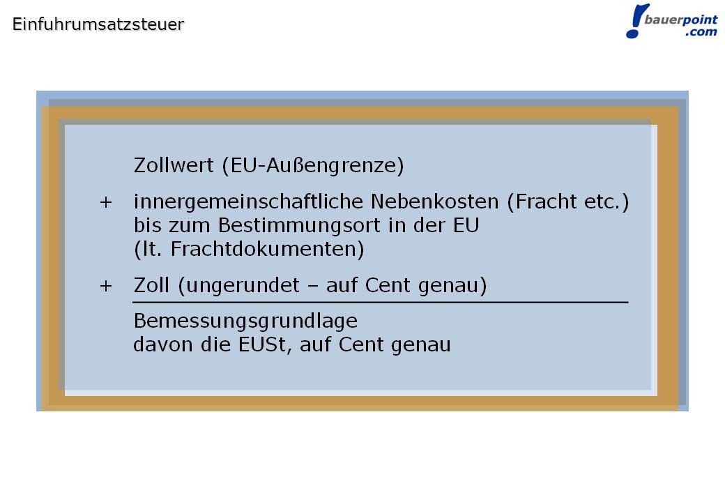Einfuhrumsatzsteuer
