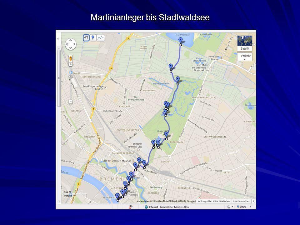 Martinianleger bis Stadtwaldsee