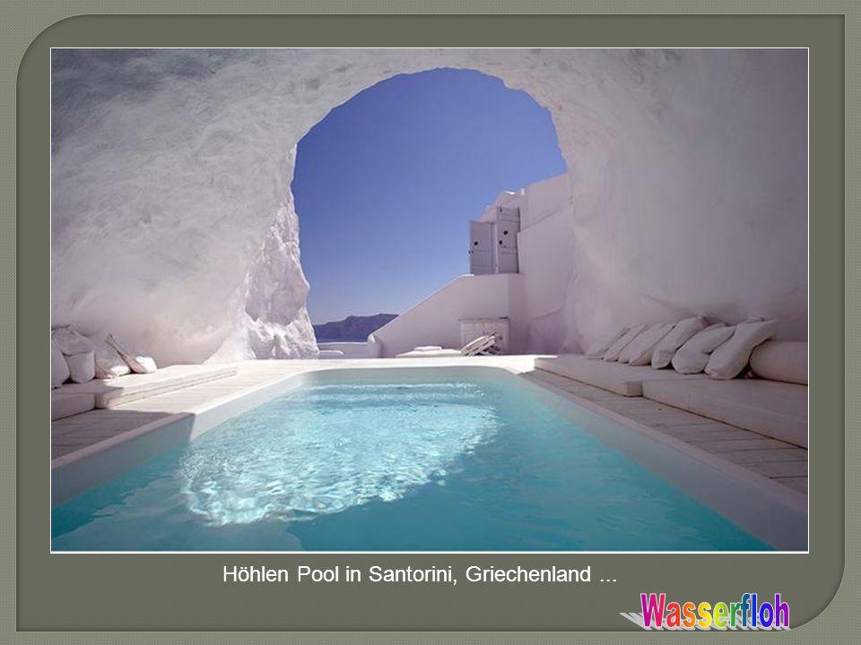 Höhlen Pool in Santorini, Griechenland ...