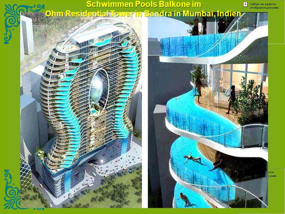 Schwimmen Pools Balkone im