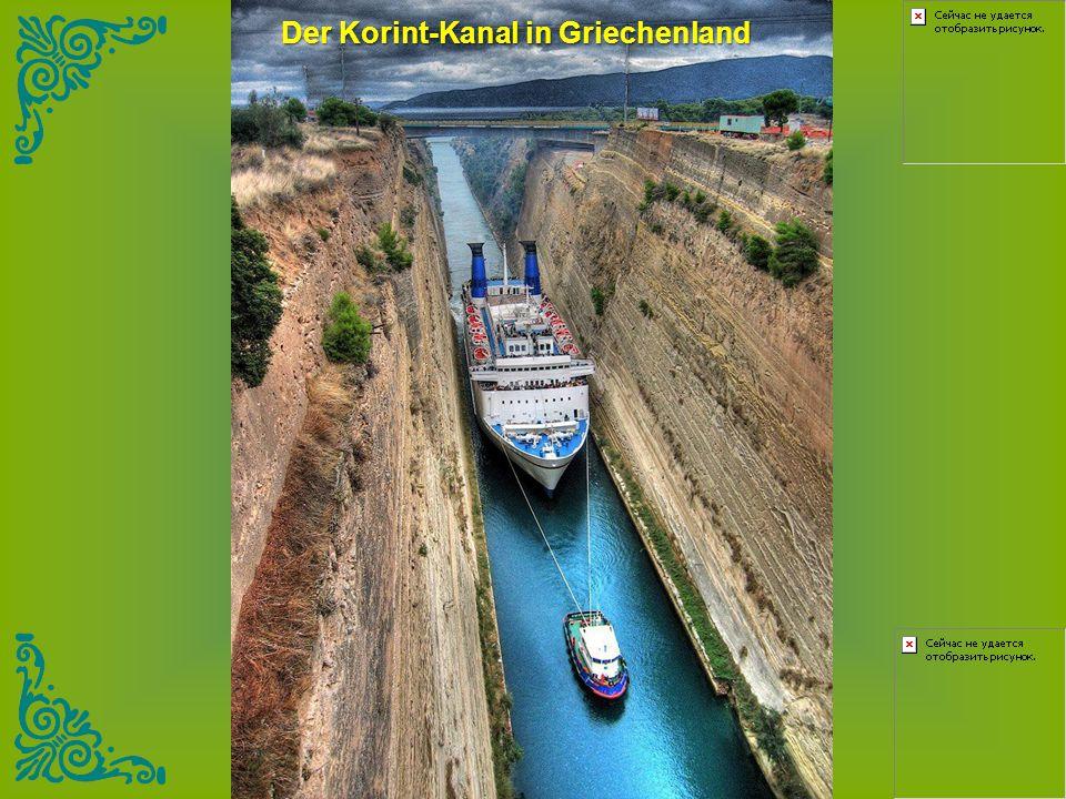 Der Korint-Kanal in Griechenland