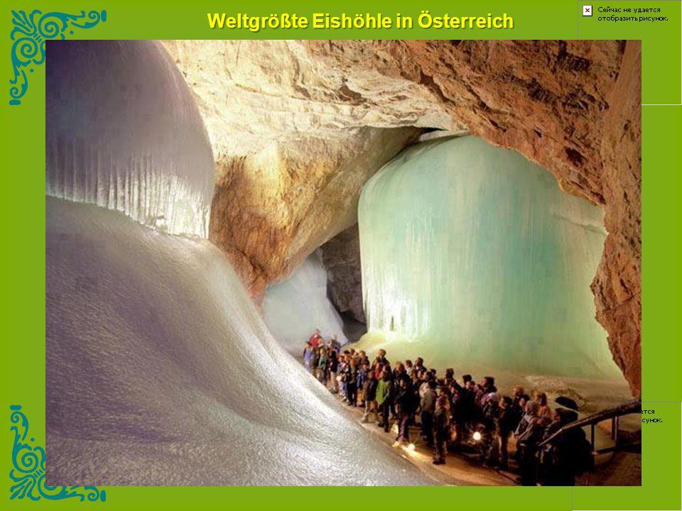 Weltgrößte Eishöhle in Österreich