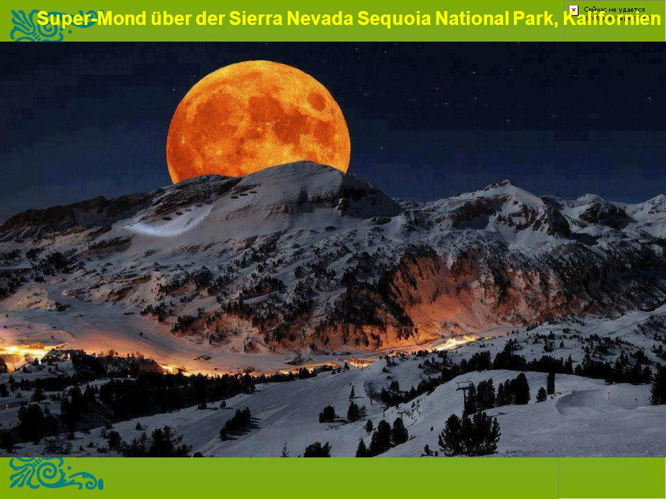 Super-Mond über der Sierra Nevada Sequoia National Park, Kalifornien