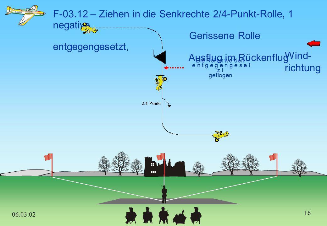 F-03.12 – Ziehen in die Senkrechte 2/4-Punkt-Rolle, 1 negative