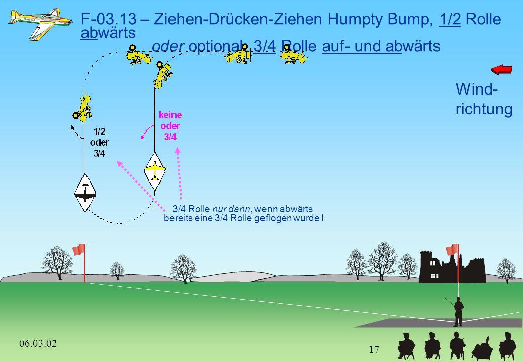 F-03.13 – Ziehen-Drücken-Ziehen Humpty Bump, 1/2 Rolle abwärts