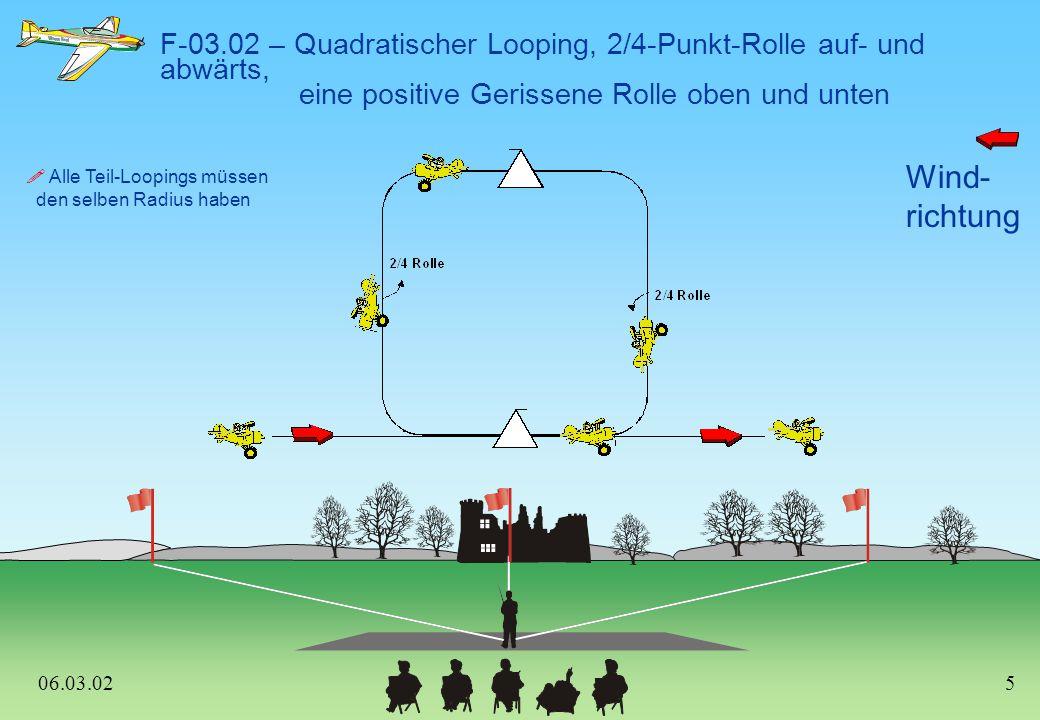 F-03.02 – Quadratischer Looping, 2/4-Punkt-Rolle auf- und abwärts,