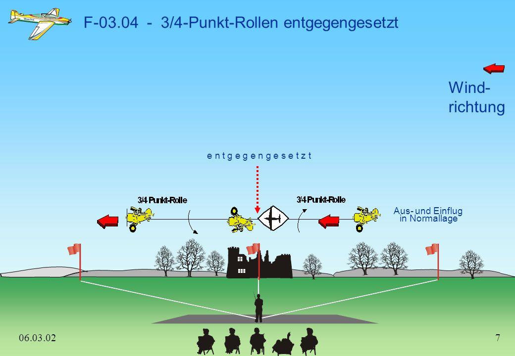 F-03.04 - 3/4-Punkt-Rollen entgegengesetzt