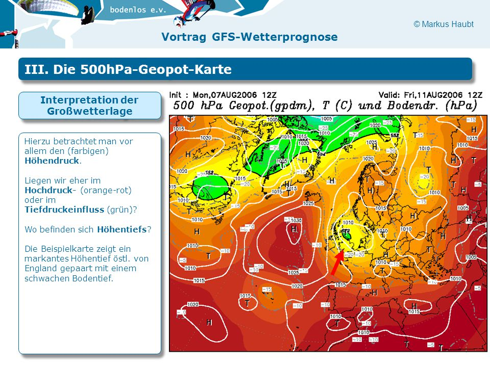 Interpretation der Großwetterlage