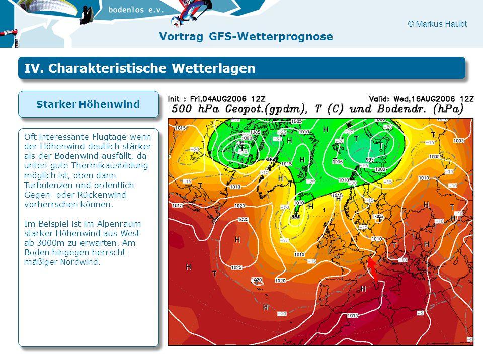 IV. Charakteristische Wetterlagen