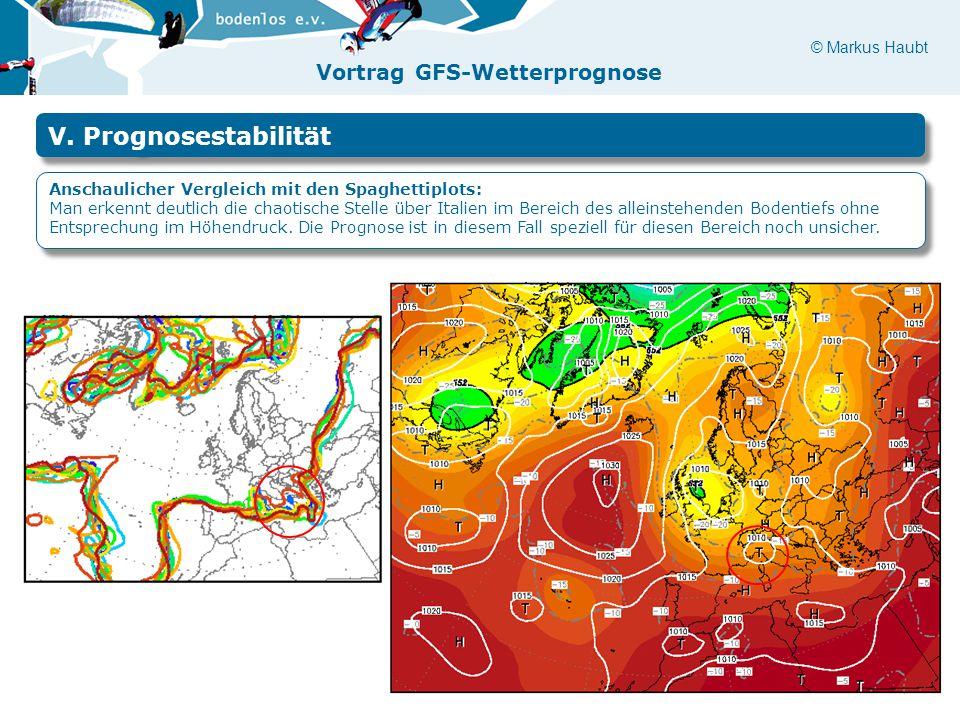 V. Prognosestabilität Anschaulicher Vergleich mit den Spaghettiplots: