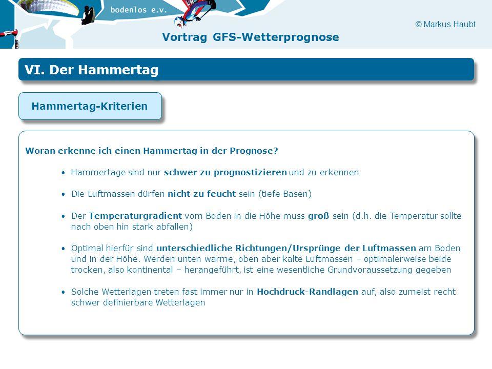 VI. Der Hammertag Hammertag-Kriterien
