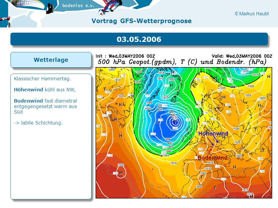 03.05.2006 Wetterlage Höhenwind Bodenwind Klassischer Hammertag.