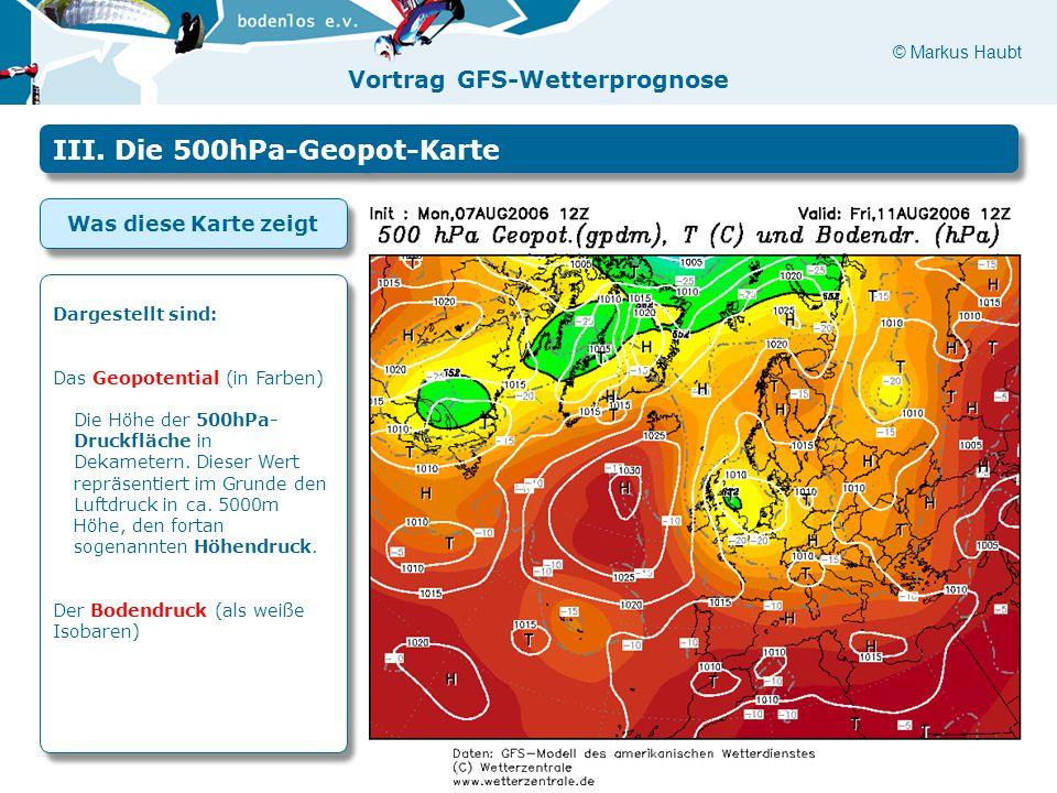 III. Die 500hPa-Geopot-Karte
