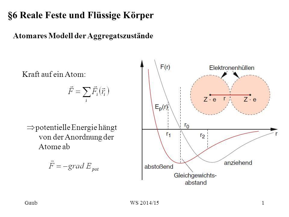 Atomares Modell der Aggregatszustände