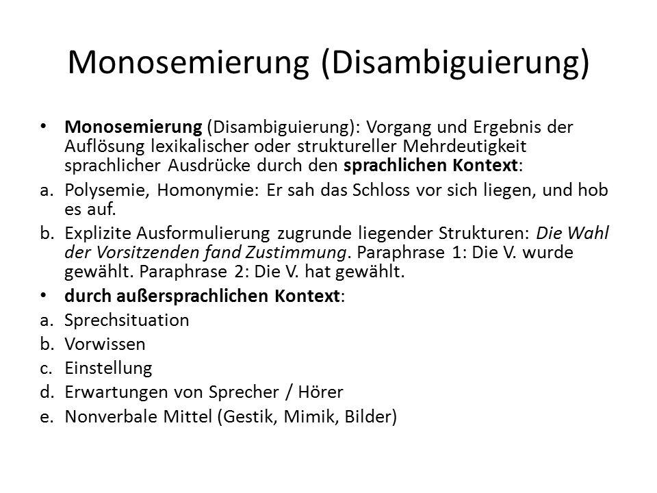 Monosemierung (Disambiguierung)