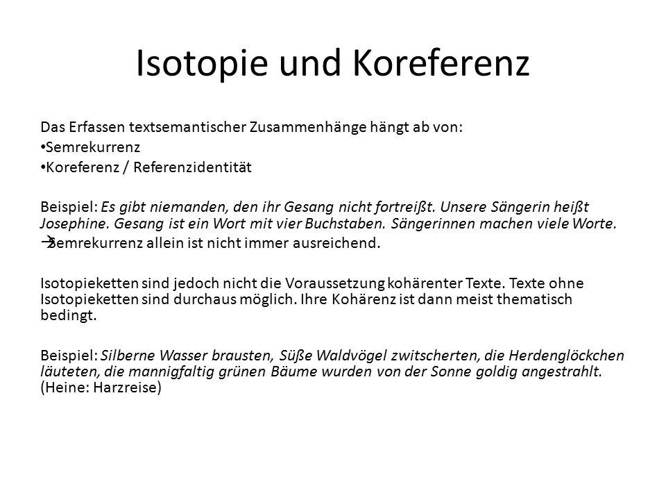 Isotopie und Koreferenz