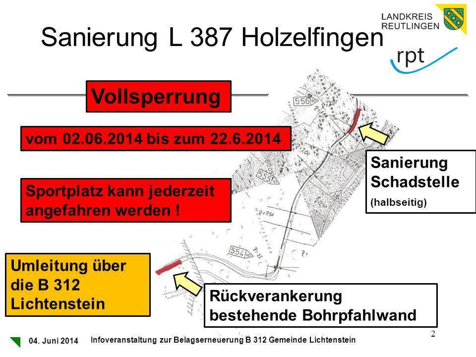 Sanierung L 387 Holzelfingen