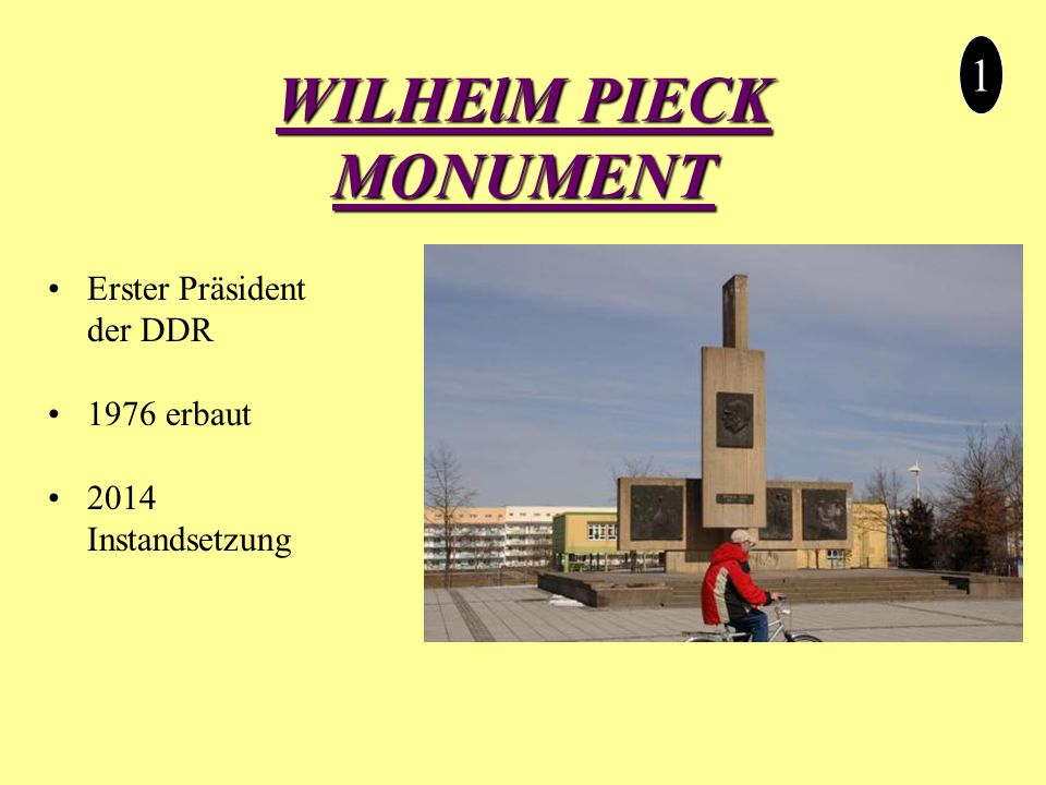 WILHElM PIECK MONUMENT