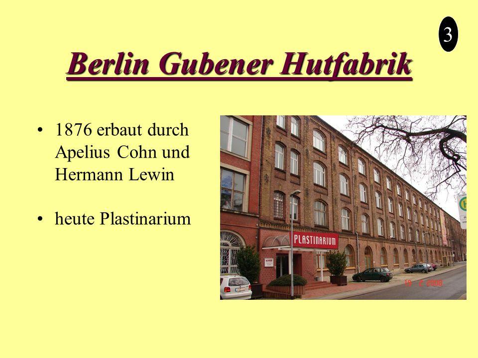 Berlin Gubener Hutfabrik