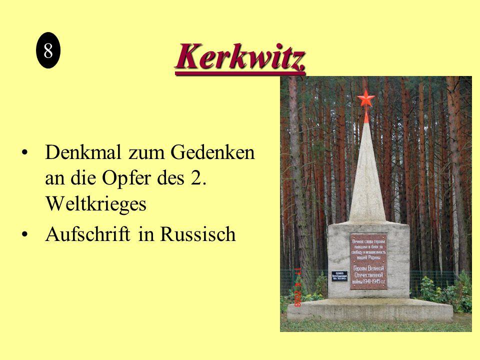 Kerkwitz 8 Denkmal zum Gedenken an die Opfer des 2. Weltkrieges