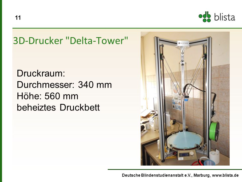 3D-Drucker Delta-Tower