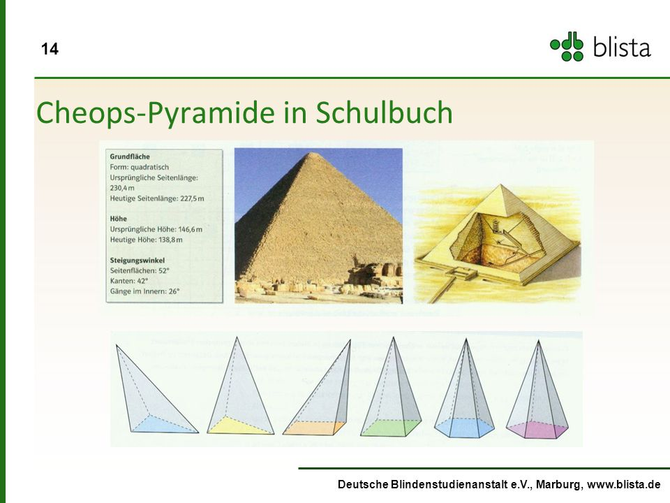 Cheops-Pyramide in Schulbuch