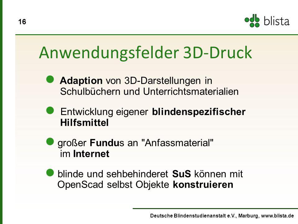 Anwendungsfelder 3D-Druck