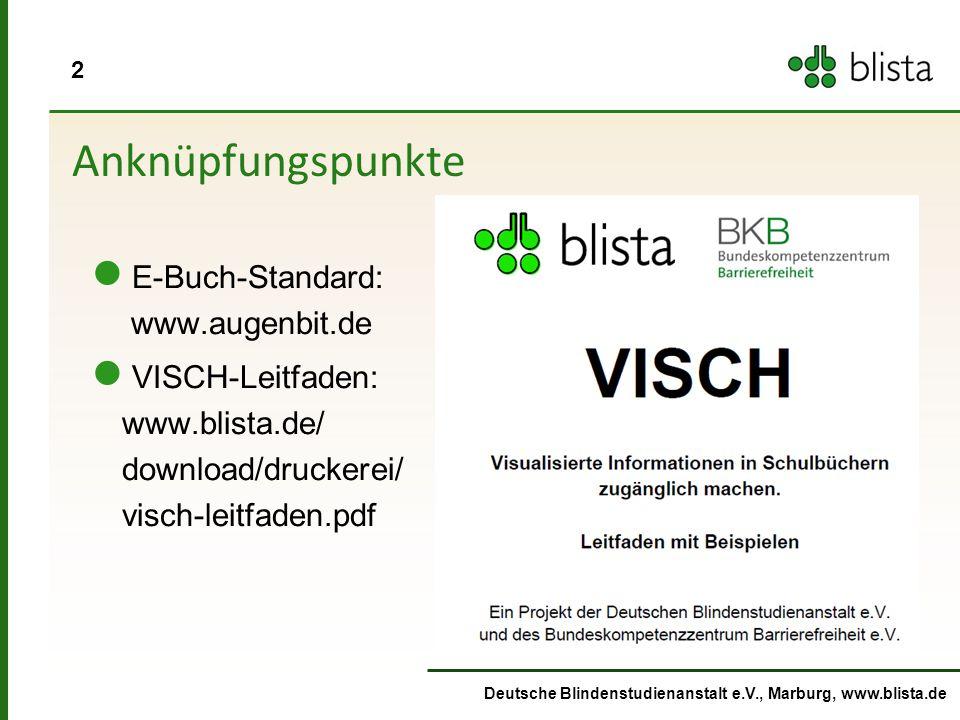 Anknüpfungspunkte E-Buch-Standard: www.augenbit.de
