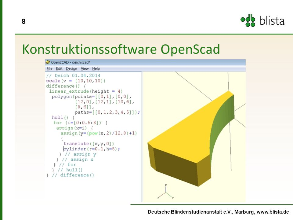 Konstruktionssoftware OpenScad