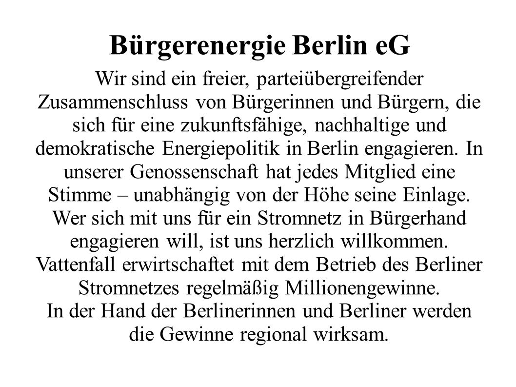 Bürgerenergie Berlin eG