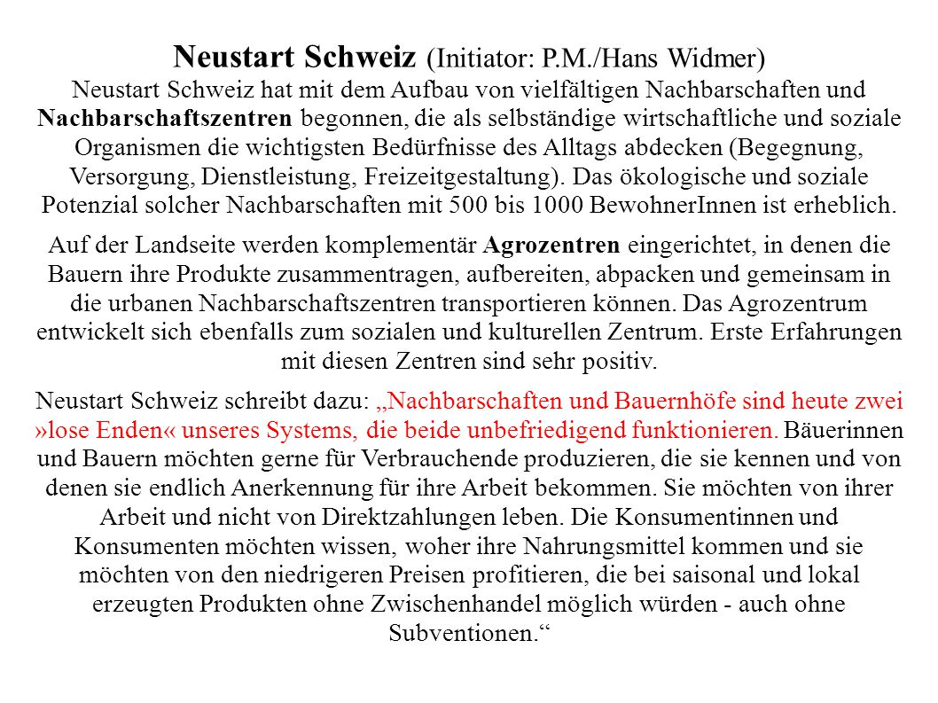 Neustart Schweiz (Initiator: P.M./Hans Widmer)