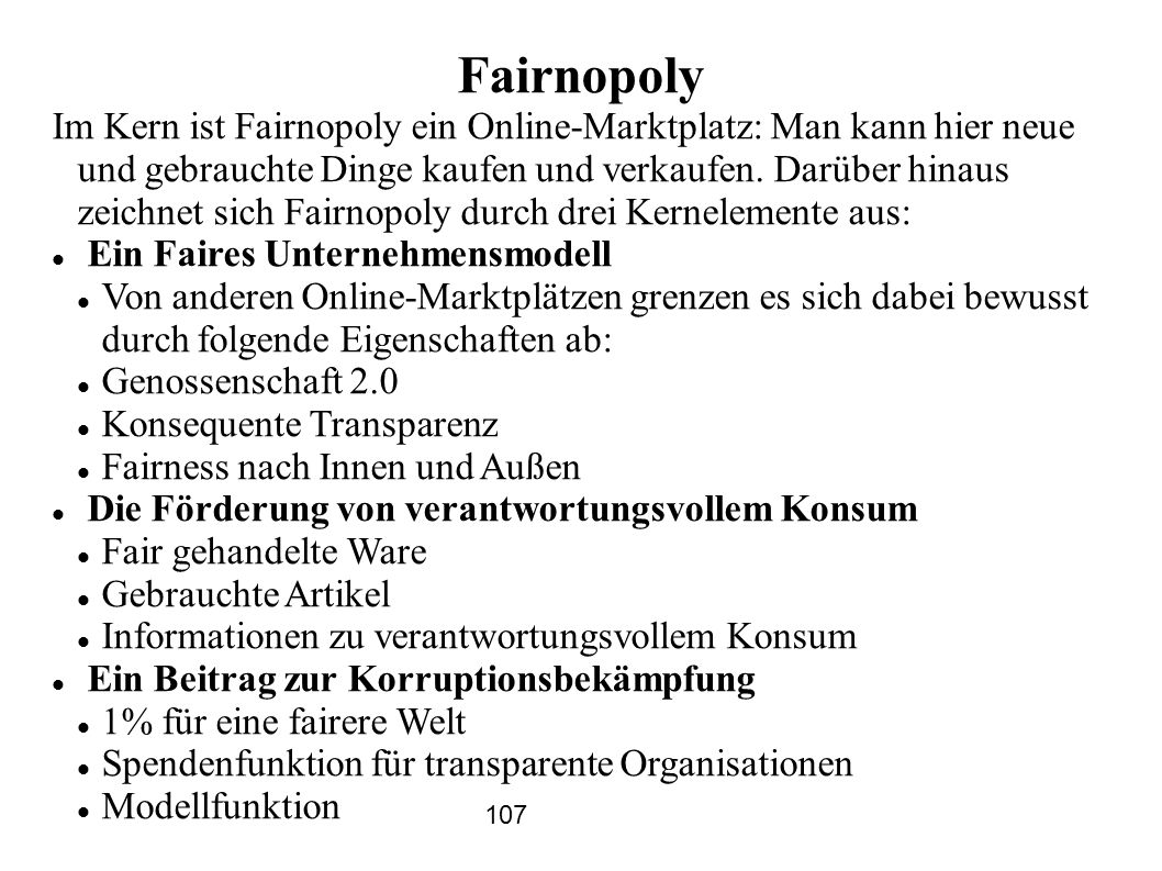 Fairnopoly