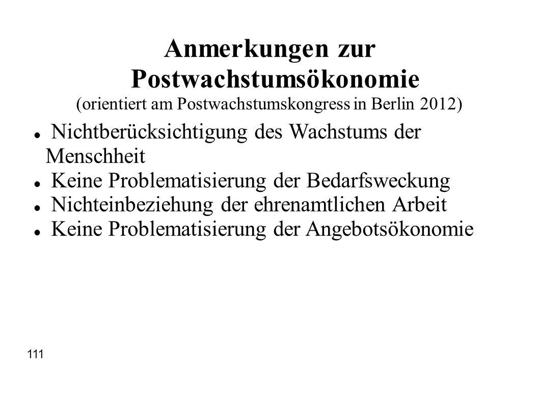 Anmerkungen zur Postwachstumsökonomie