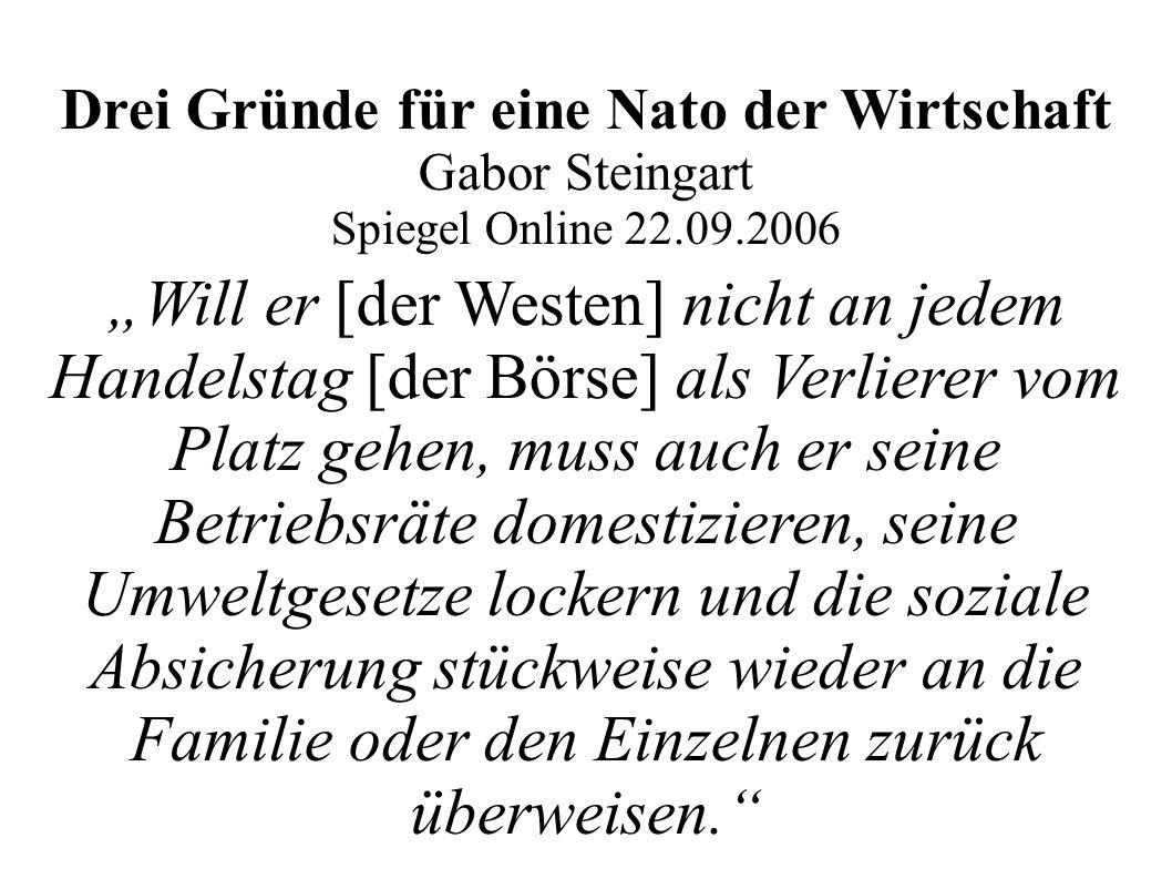 Drei Gründe für eine Nato der Wirtschaft