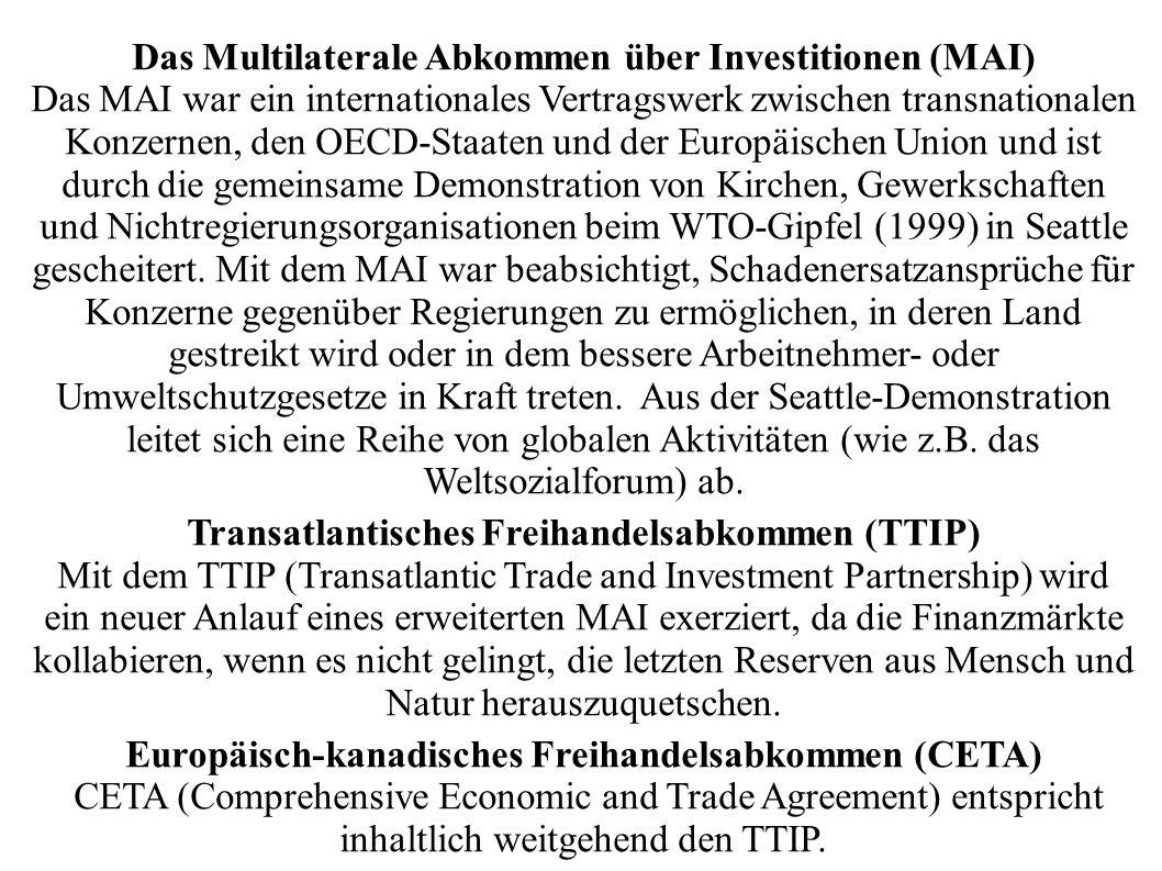 Das Multilaterale Abkommen über Investitionen (MAI)